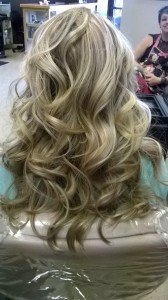 Hair with curl
